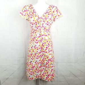 Boden V-Neck Dress Retro Print 6